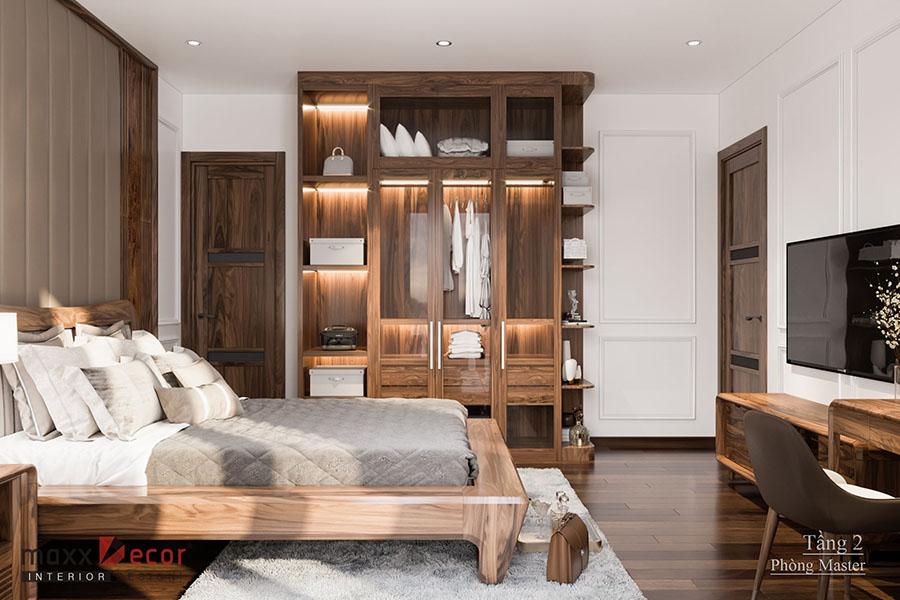 Nội thất gỗ óc chó thiết kế siêu đẹp tại Hải Dương