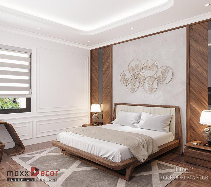 Thiết kế nội thất gỗ óc chó biệt thự anh Mạnh - Ninh Bình