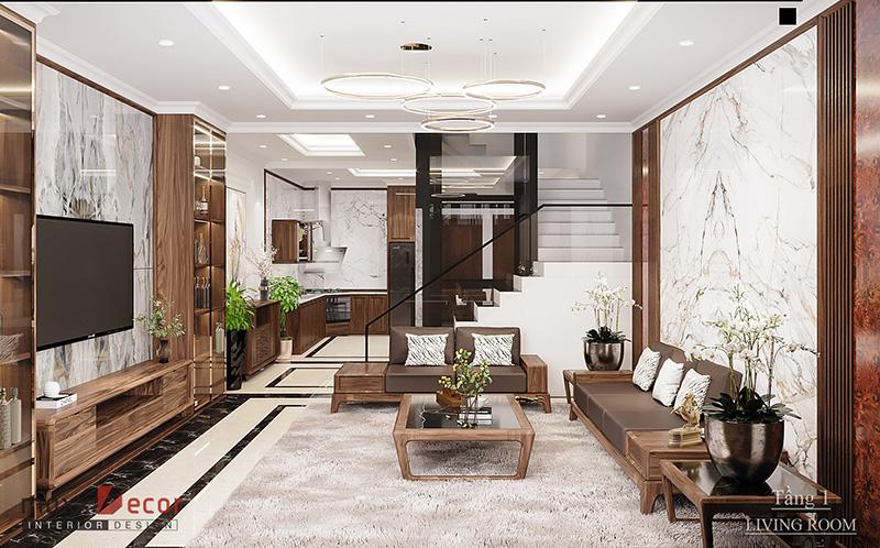 Mẫu nhà phố với nội thất thiết kế sang trọng
