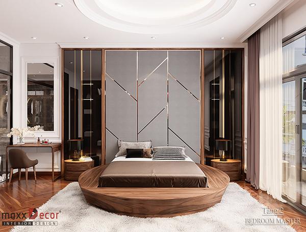 Phòng ngủ gỗ óc chó vẻ đẹp chất ngất