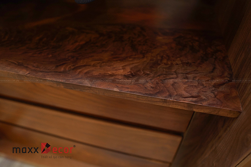 Nội thất gỗ óc chó hoàn thiện đưa vào sử dụng