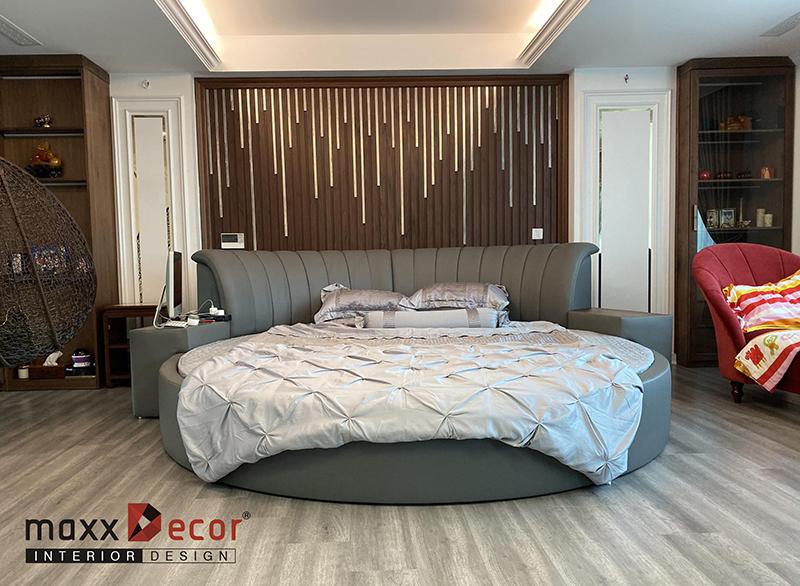 Thi công hoàn thiện nội thất gỗ óc chó Cầu Giấy Hà Nội