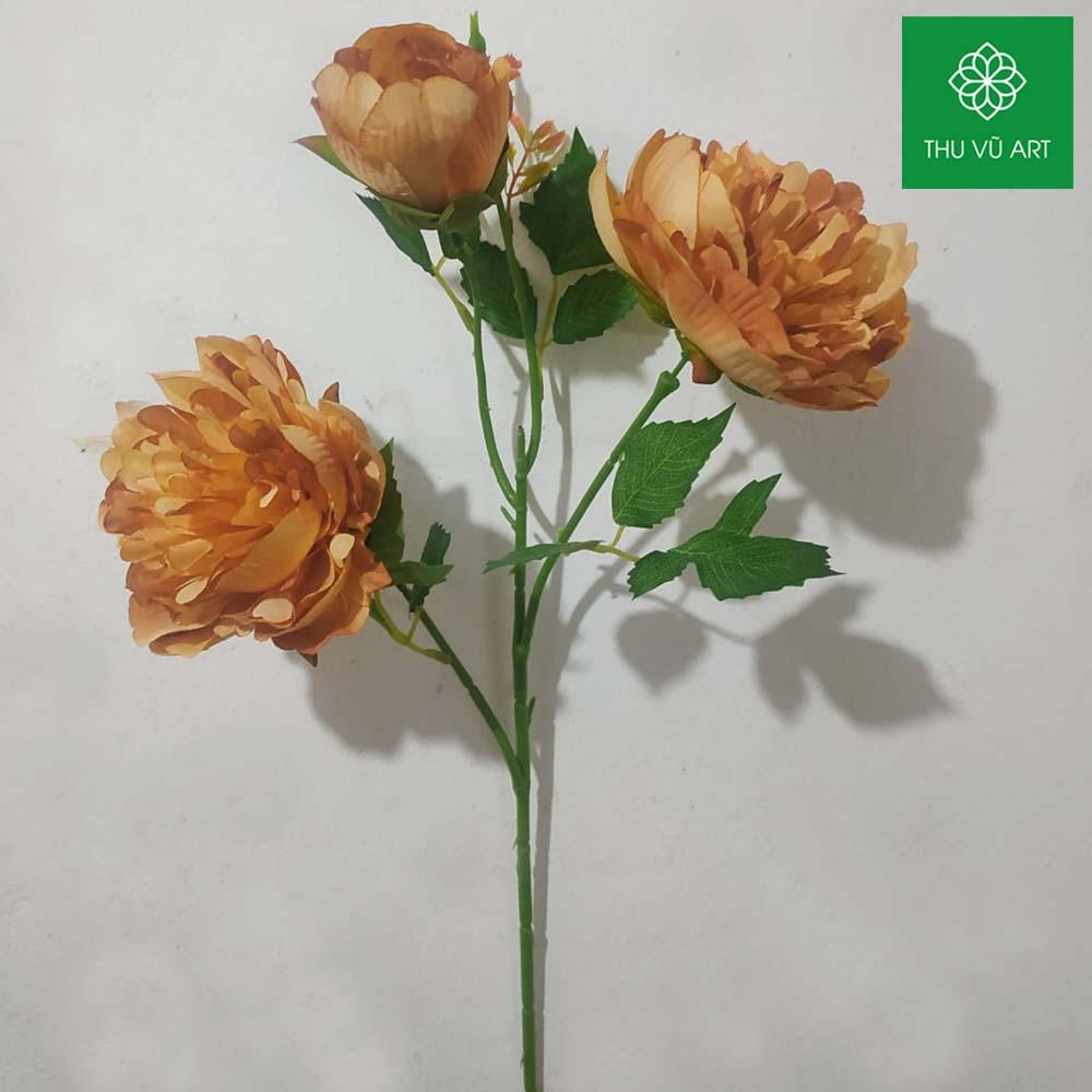 Hồng mẫu đơn 2 bông 1 nụ