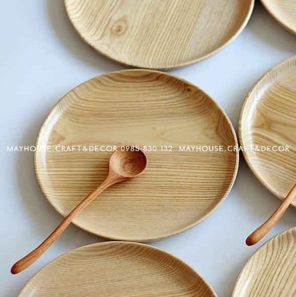 Khay gỗ tần bì tròn