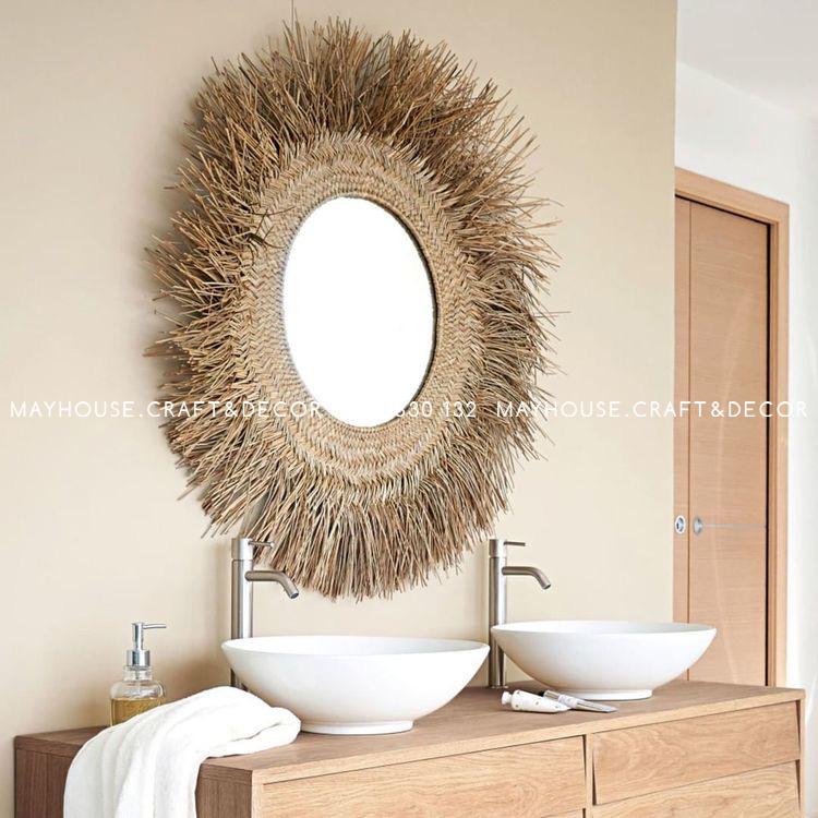 Gương cói tròn