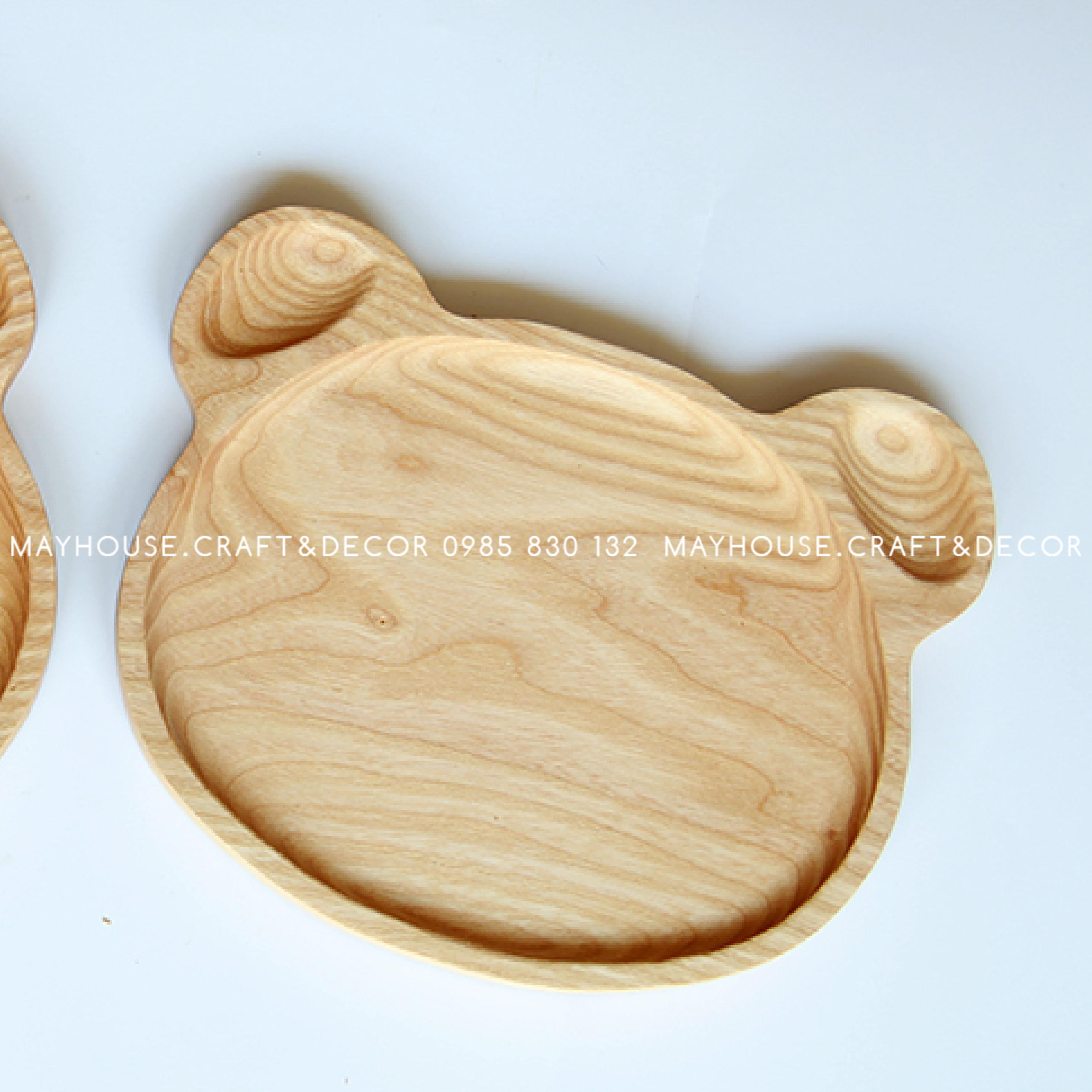 Khay gỗ mặt gấu