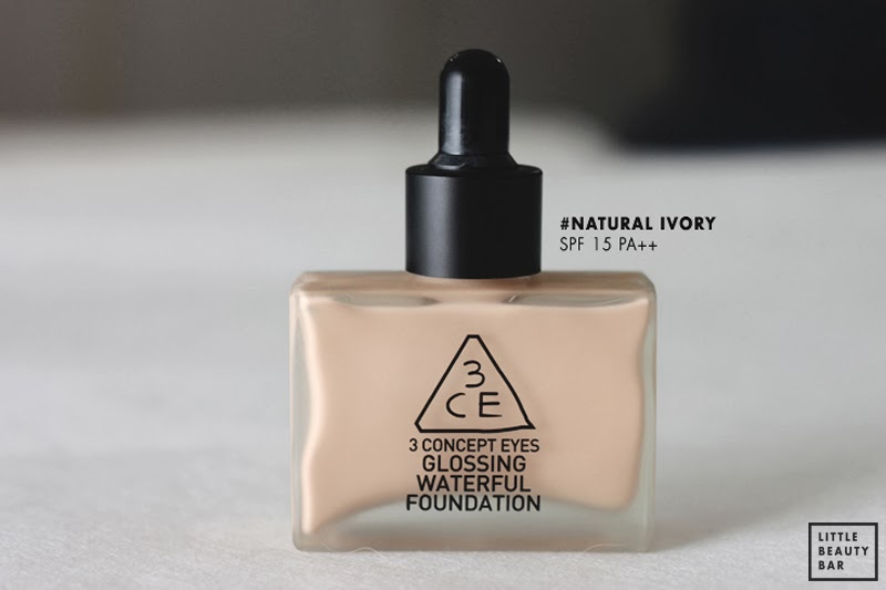 Reviews kem nền 3CE Glossing Waterful Foundation từ blog nước ngoài