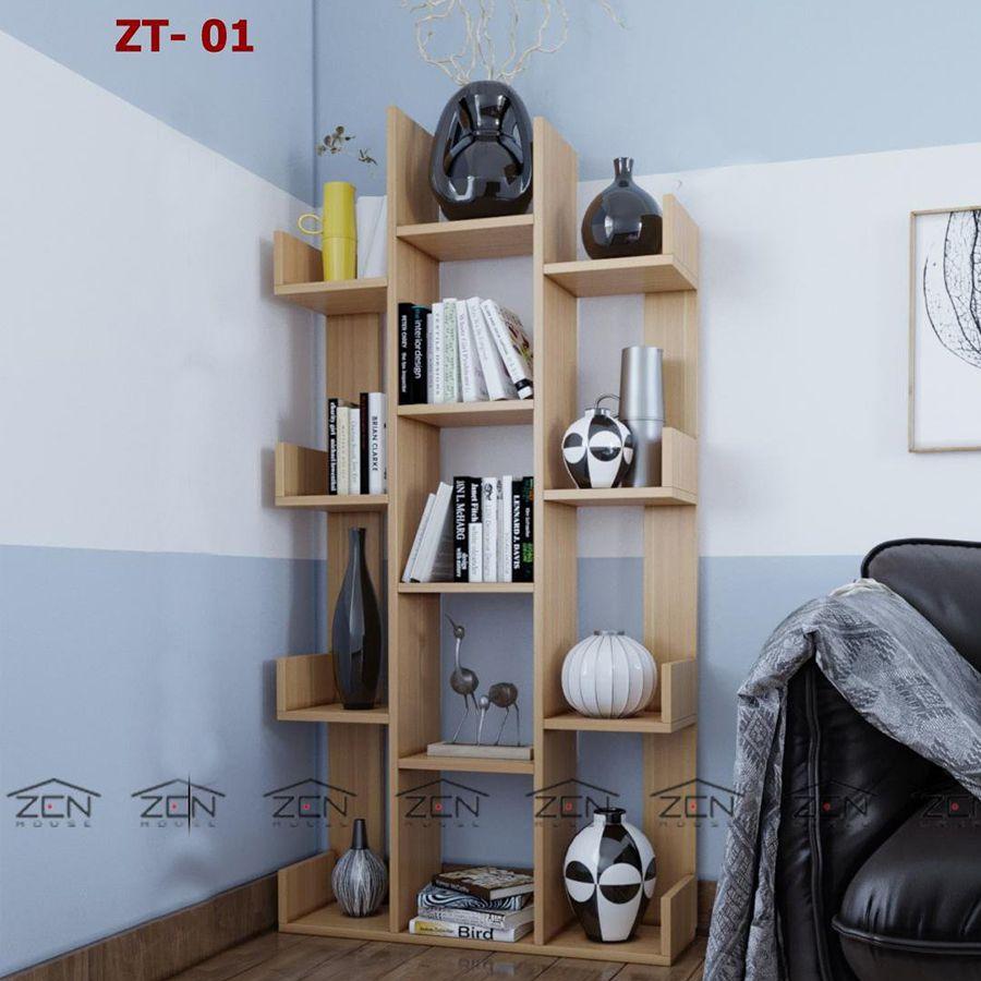 Kệ góc được chế tác từ gỗ MDF cho không gian nhà bạn thêm đẹp