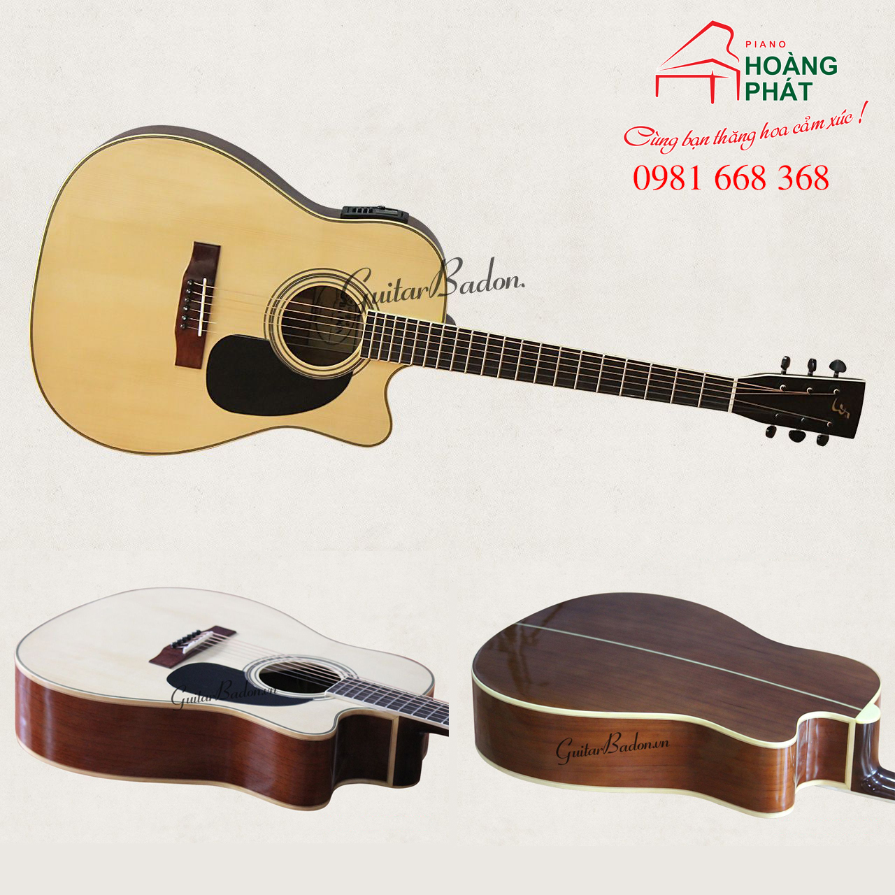 Guitar Acoustic J-260 ( CÓ EQ)