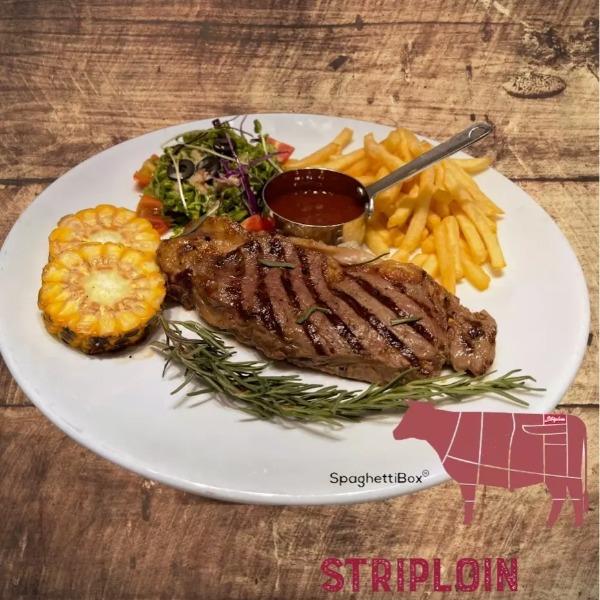 Striploin Beef-steak Thăn ngoại Bò Úc  - kiểu Âu