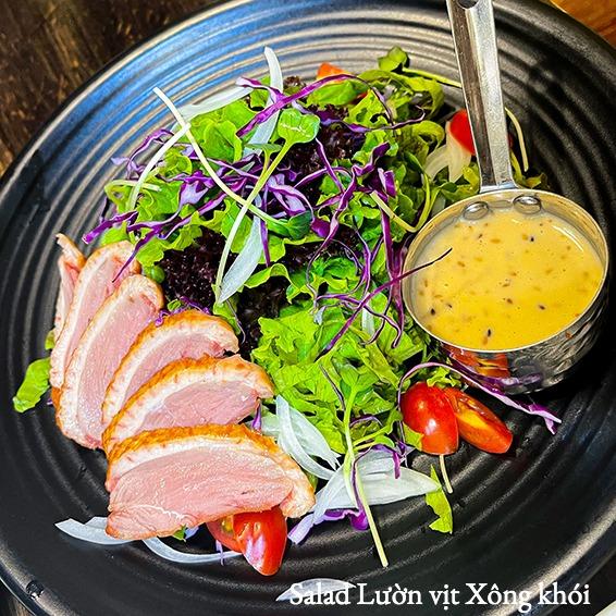 Salad Lườn ngỗng Xông khói