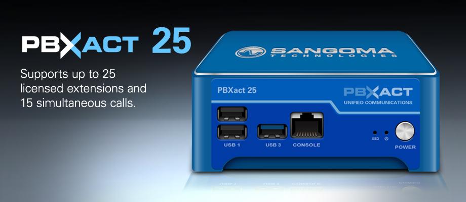 Tổng đài IP / VoIP Sangoma PBXACT UC 25