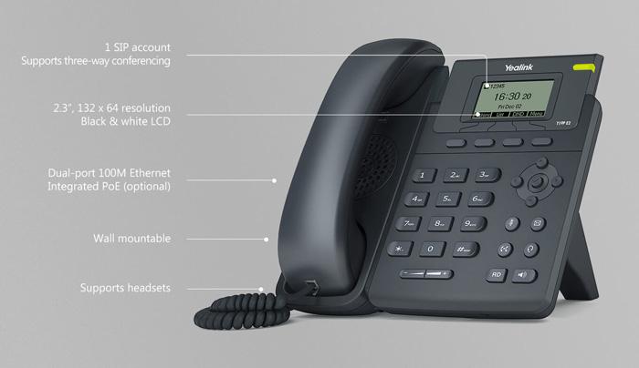 Điện thoại VoIP cho doanh nghiệp Yealink SIP-T19 E2