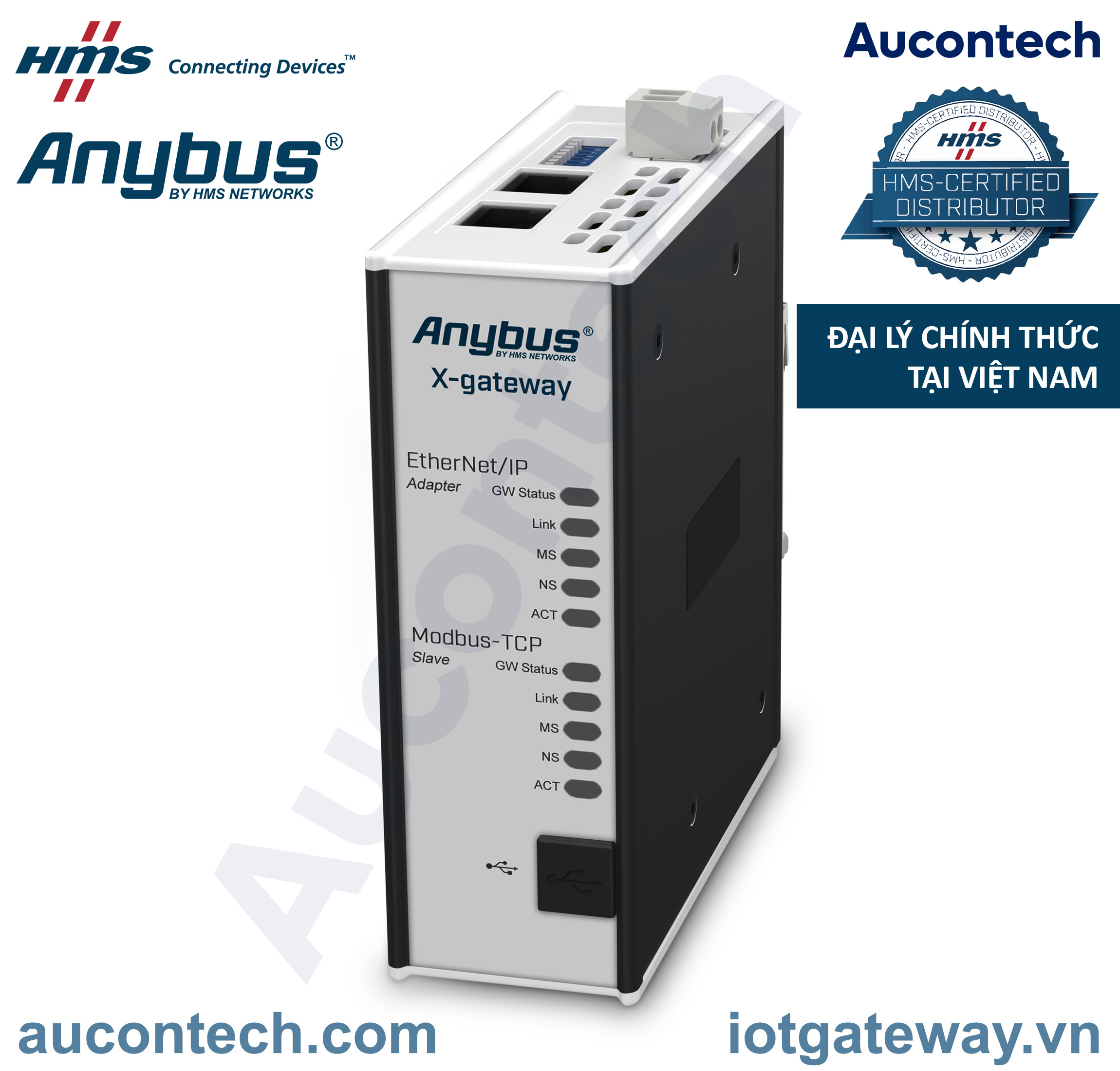 Anybus X-gateway - Modbus TCP Client - EtherNet/IP Adapter - AB9006-B - Anybus Vietnam