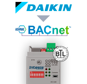Daikin AC Domestic units to BACnet IP/MSTP Interface - INBACDAI001I000