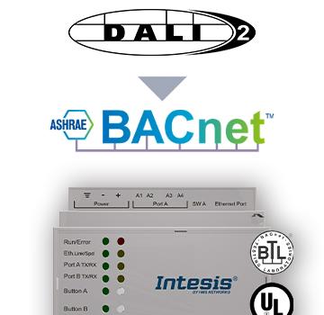 INBACDAL1280200 - DALI to BACnet IP Server Gateway - 2 channels