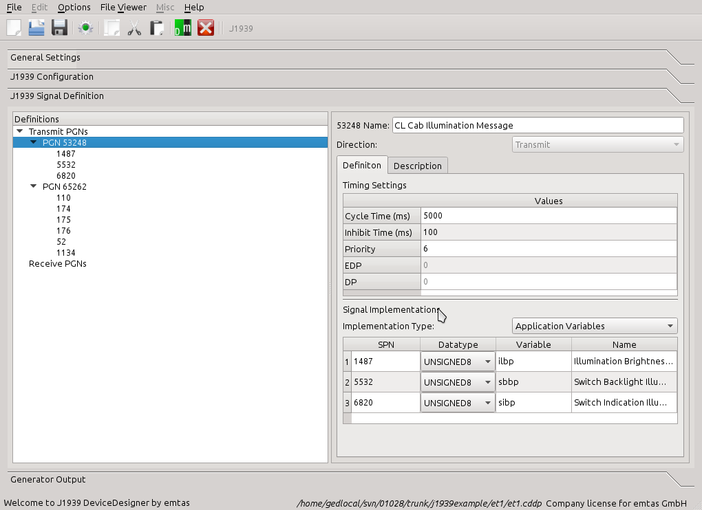 Ixxat - emotas J1939 DeviceDesigner