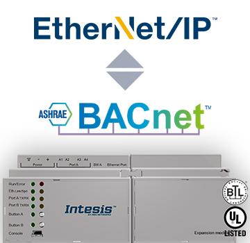 INBACEIP1K20000 - EtherNet/IP - BACnet IP & MS/TP Server Gateway