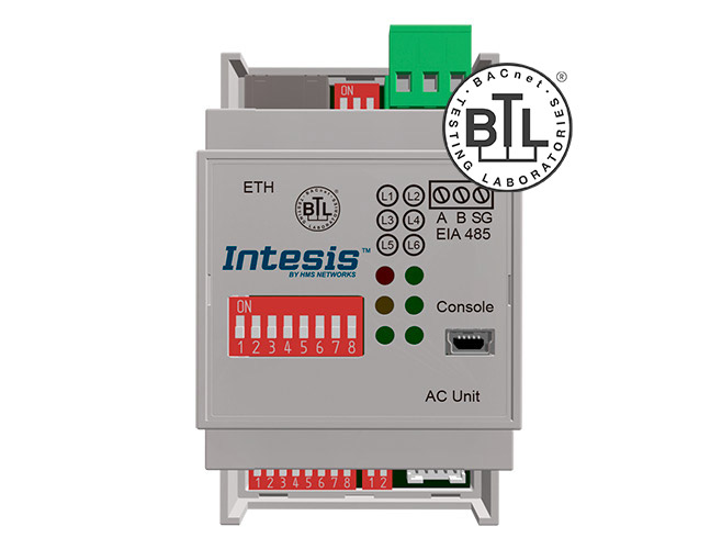Mitsubishi Electric Domestic, Mr.Slim and City Multi to BACnet IP/MSTP Interface - INBACMIT001I000