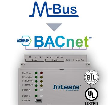 M-BUS to BACnet IP & MS/TP Server Gateway - INBACMEB1200000
