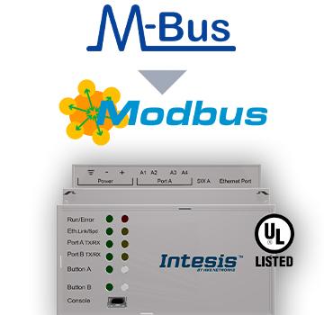 M-BUS to Modbus TCP & RTU Server Gateway - INMBSMEBxx00000