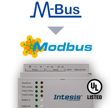INMBSMEB1200000 - M-BUS to Modbus TCP & RTU Server Gateway - 120 devices