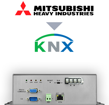 INKNXMHI048O000 - Mitsubishi Heavy Industries VRF systems to KNX Interface - 48 units