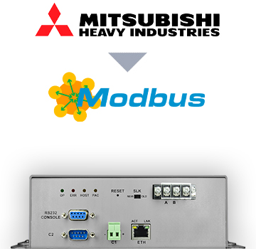 INMBSMHI128O000 - Mitsubishi Heavy Industries VRF systems to Modbus TCP/RTU Interface - 128 units