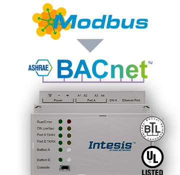Modbus TCP & RTU Master to BACnet IP & MS/TP Server Gateway - INBACMBMxxx0000