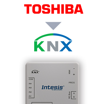 Toshiba VRF and Digital systems to KNX Interface with Binary Inputs