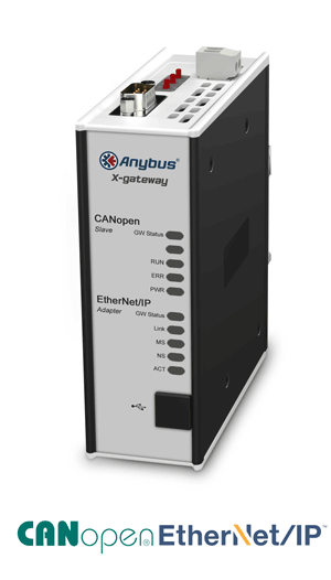 AB7838 - Anybus X-gateway – EtherNet/IP Adapter - CANopen Slave