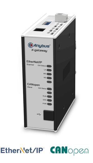 AB7677 - Anybus X-gateway – EtherNet/IP Scanner - CANopen Slave