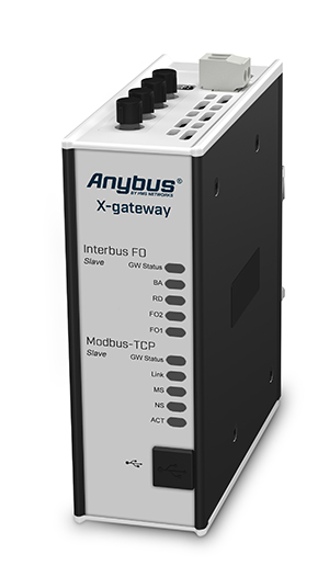 AB7639-F Anybus X-gateway – Interbus FO Slave - Modbus TCP Server