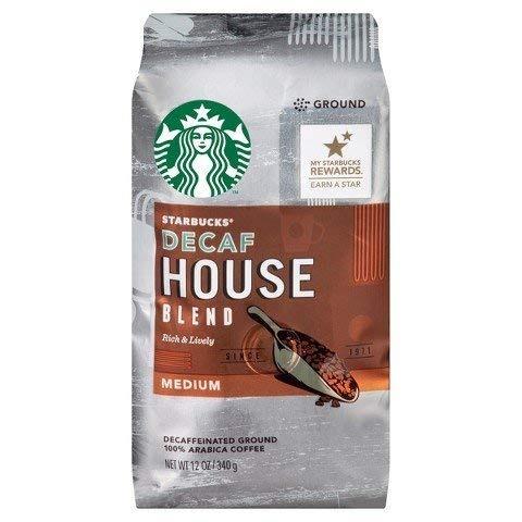 CÀ PHÊ RANG VỪA ĐÃ KHỬ CAFFEIN STARBUCKS DECAF HOUSE BLEND MEDIUM ROAST GROUND COFFEE