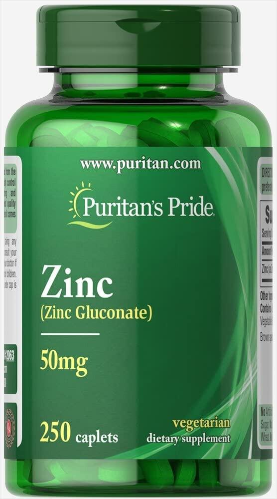 VIÊN UỐNG BỔ SUNG KẼM, TĂNG CƯỜNG HỆ MIỄN DỊCH PURITAN'S PRIDE ZINC 50 MG TO SUPPORT IMMUNE HEALTH