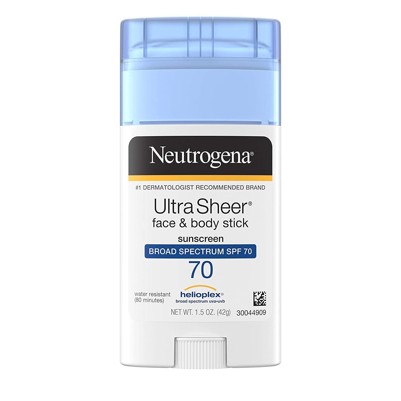 LĂN CHỐNG NĂNG NEUTROGENA ULTRA SHEER NON-GREASY SUNSCREEN STICK FOR FACE & BODY, BROAD SPECTRUM SPF 70 UVA/ UVB