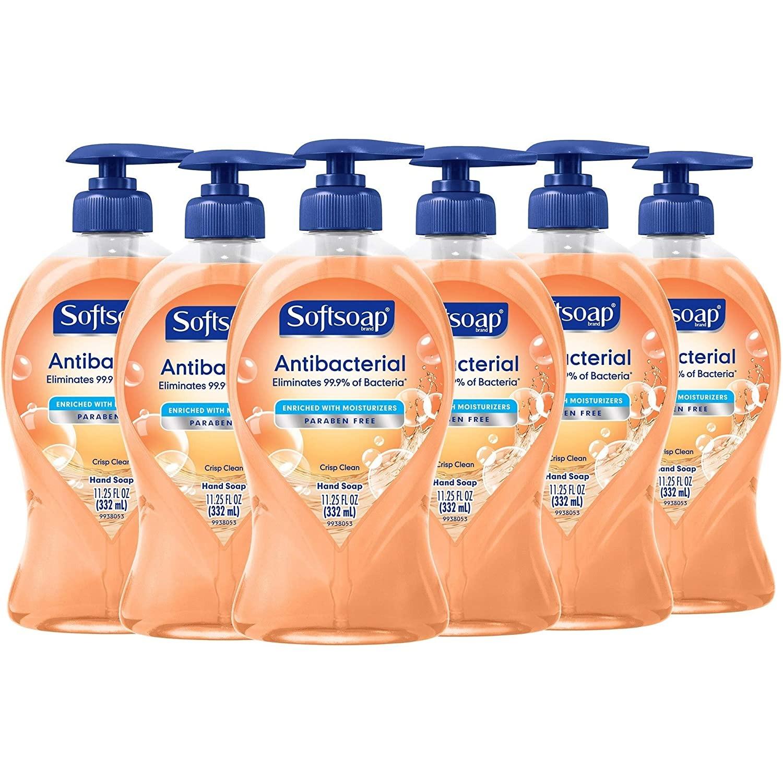 SET XÀ BÔNG RỬA TAY SOFTSOAP ANTIBACTERIAL LIQUID HAND SOAP, CRISP CLEAN