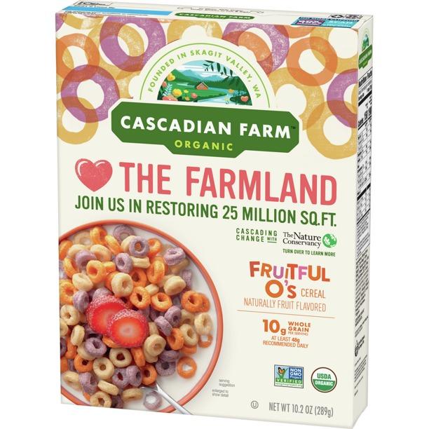 NGŨ CỐC YẾN MẠCH VỊ TRÁI CÂY HỮU CƠ CASCADIAN FARM ORGANIC FRUITFUL O'S CEREAL