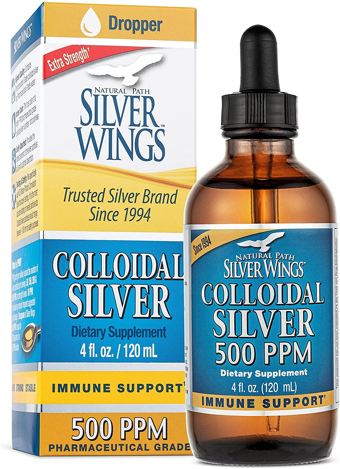 KEO BẠC NATURAL PATH SILER WINGS DIETARY MINERAL SUPPLEMENT, COLLIDAL SILVER, 500 PPM