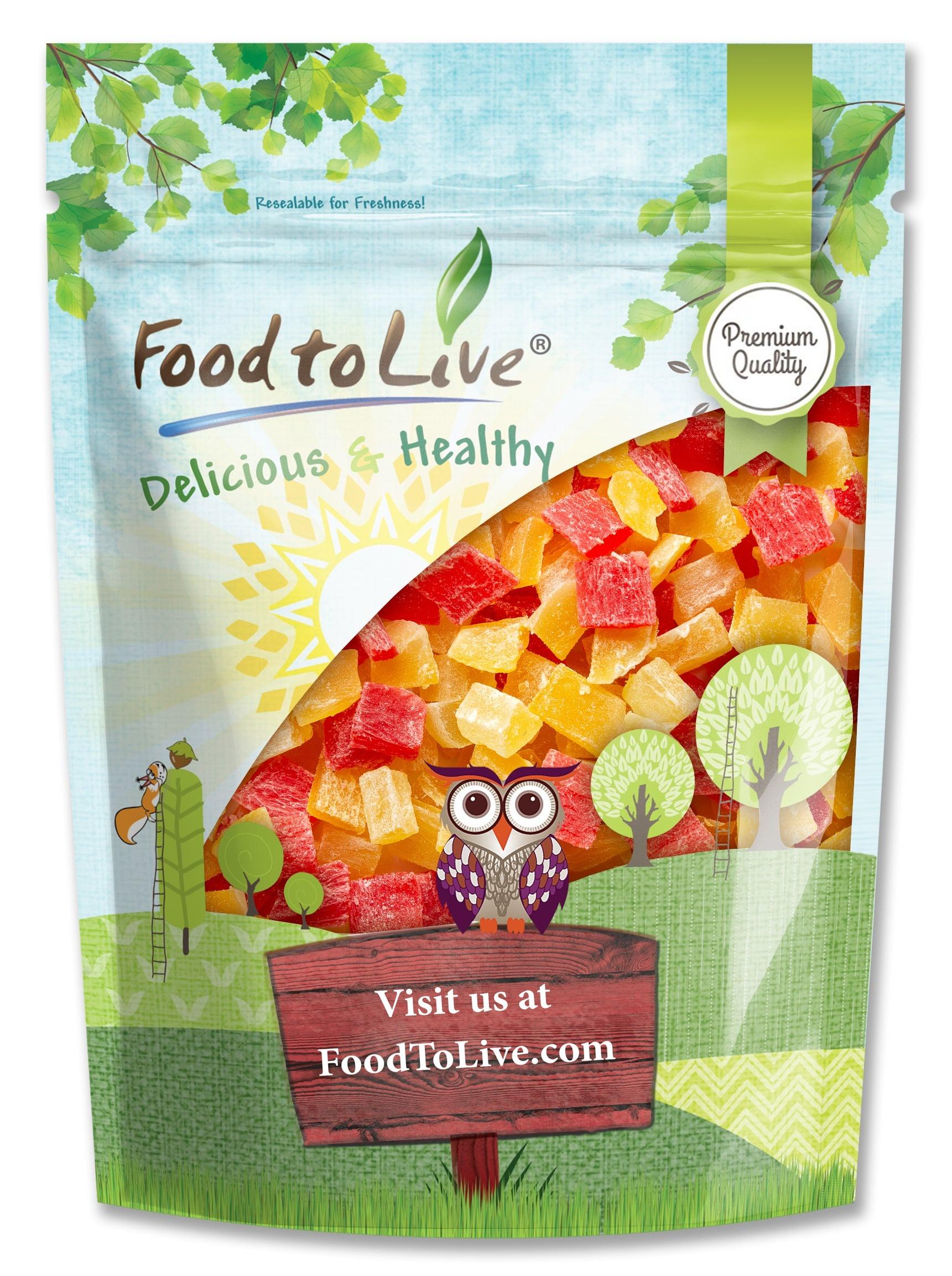HỖN HỢP TRÁI CÂY XOÀI, DỨA, ĐU ĐỦ SẤY KHÔ FOOD TO LIVE DICED FRUITS MIX