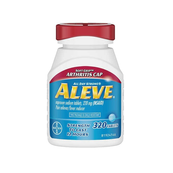 THUỐC GIẢM ĐAU HẠ SỐT ALEVE NAPROXEN SODIUM 220MG PAIN RELIEVER / FEVER REDUCER