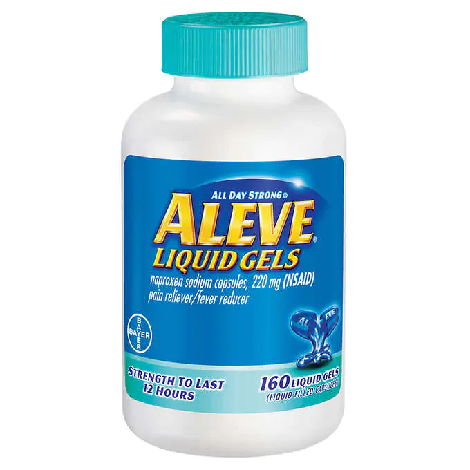 THUỐC GIẢM ĐAU HẠ SỐT ALEVE NAPROXEN SODIUM 220 MG. PAIN RELIEVER / FEVER REDUCER