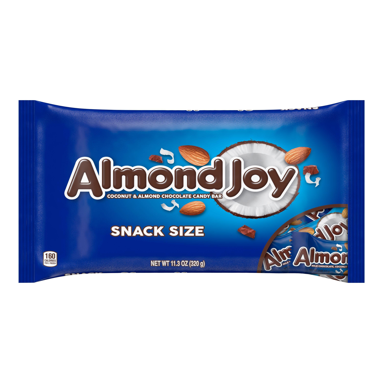 KẸO SOCOLA SỮA DỪA HẠNH NHÂN ALMOND JOY MILK CHOCOLATE, COCONUT & ALMOND CANDY BARS, SNACK SIZE