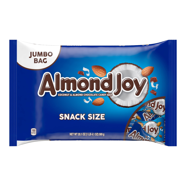 KẸO SOCOLA SỮA DỪA HẠNH NHÂN ALMOND JOY MILK CHOCOLATE, COCONUT & ALMOND CANDY BARS, SNACK SIZE, JUMBO BAG