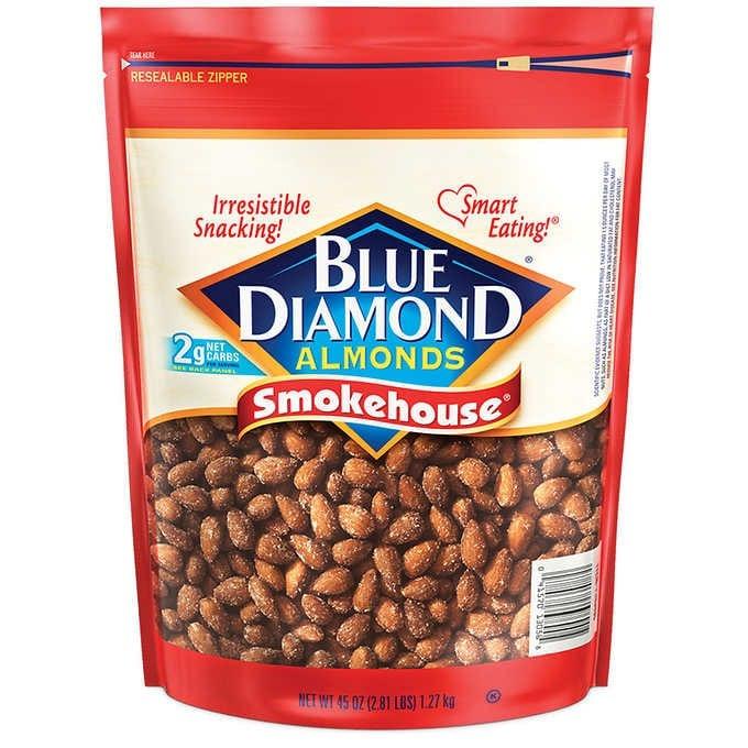 HẠNH NHÂN HUN KHÓI BLUE DIAMOND ALMONDS, SMOKEHOUSE