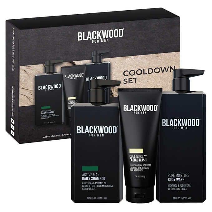 BỘ TẮM GỘI RỬA MẶT DÀNH CHO NAM BLACKWOOD FOR MEN COOLDOWN XL SET