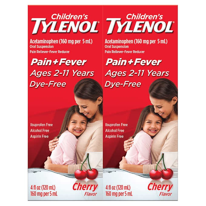 THUỐC GIẢM ĐAU VÀ HẠ SỐT DẠNG NƯỚC DÀNH CHO TRẺ EM TỪ 2-11 TUỔI CHILDREN'S TYLENOL ACETAMINOPHEN