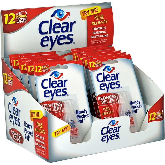 THUỐC NHỎ MẮT CLEAR EYES REDNESS RELIEF HANDY POCKET PAL
