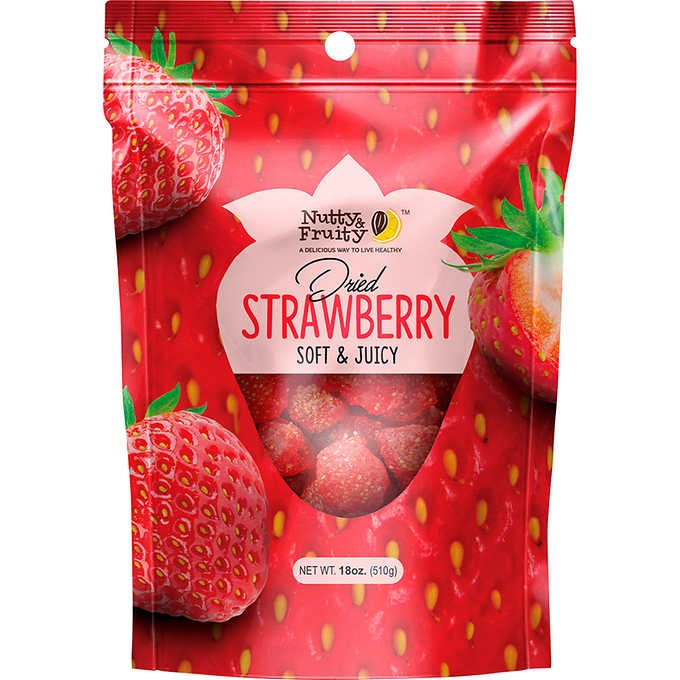 DÂU SẤY KHÔ NUTTY & FRUITY DRIED STRAWBERRY
