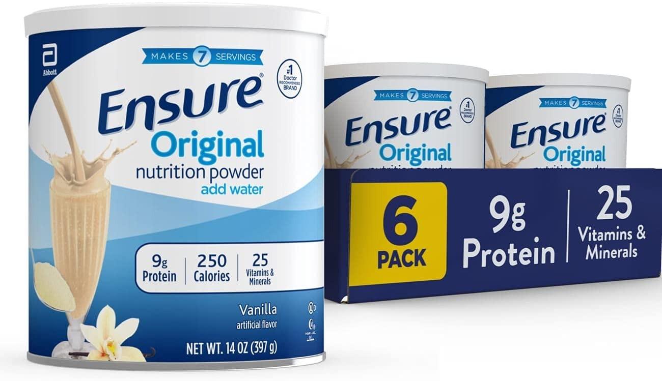 SỮA BỘT ENSURE ORIGINAL NUTRITION POWDER VANILLA (BLOCK 6 HỘP)